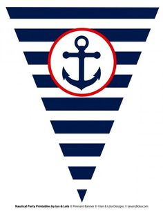 Free Nautical Party Printables From Ian & Lola Designs throughout Nautical Banner Template - Business Template Ideas Sailor Birthday, Sailor Party, Sailor Theme, Diy Birthday, Birthday Design, Birthday Cupcakes, Birthday Ideas, Nautical Banner, Nautical Party