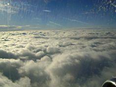 Nuvens vista do alto