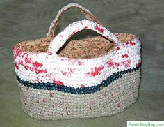 Repurposing Plastic Bags - Make a plastic bag bag