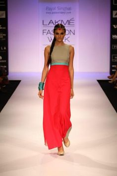 payal singhal. stunning colorblock - indian fusion fashion, great alternative to the usual wedding looks