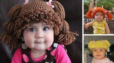Cabbage Patch Doll Inspired Wig Hats For Babies