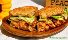 #Vegan Sun-Dried Tomato & Basil Chickpea Sandwich
