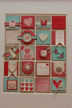 Valentine Collage.  This is cute - but you'd have to ensure you stayed with the right tones and colours in order to get the look right. Valentines Frames, Valentine Ideas, Valentine Love Cards, Scrapbook Cards, Scrapbooking, Candy Cards, Pocket Letters, Collage Frames, Heart Cards