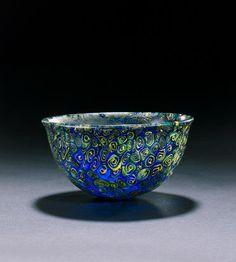 Hellenistic Mosaic Glass Bowl  --  Late 3rd-2nd Centuries BCE  --  Via Bonham's.