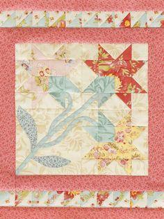 Carolina Lily Tabletop Quilt - free pattern @ AllPeopleQuilt.com