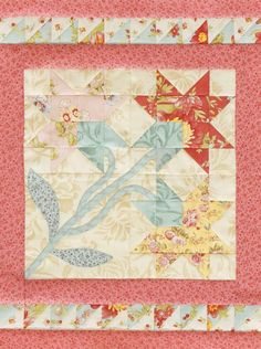 Carolina Lily Tabletop Quilt - free pattern @ AllPeopleQuilt.com
