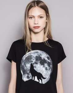 PRINTED T-SHIRT - T-SHIRTS AND TOPS - WOMAN - PULL&BEAR Hungary