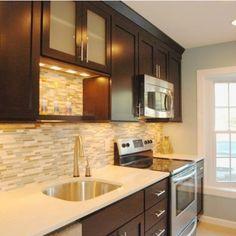 Glass Blend Back-spash Kitchen - contemporary - Kitchen - Other Metro - RJK Construction Inc