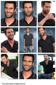 The Many Faces Of Adam Levine