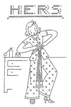 Whole Flickr account full of vintage embroidery patterns: http://www.pinterest.com/wbankson/sewing-dreams-needlecraft/