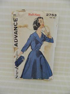 Advance Sew Easy Dress Pattern 2753 Big Skirt by ProjectRetro, $7.00
