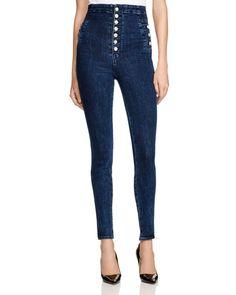 J Brand Natasha Sky High Skinny Jeans in Allegiance