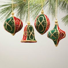 Victorian Velvet Christmas Ornaments