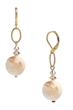Our Ivory Shell Brianna drop earrings. Perfect for summer! Only $28