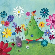 Virágok között