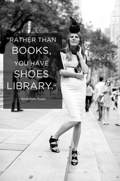 Anna Dello Russo on her library