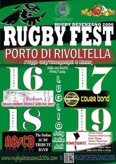 Da Giovedì 16 a domenica 19 luglio 2015 al Porto di Rivoltella (Desenzano) si tiene il Rugby Fest 2015 @gardaconcierge