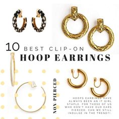 CLIP ON Big Red Loop Earrings Curb Chain Shape 12 CMS Long Pierced Version available