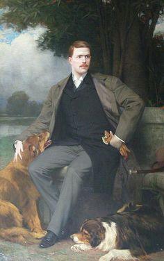 """""""Portrait of James A. Campbell"""" (1895) Jules Joseph Lefebvre"""