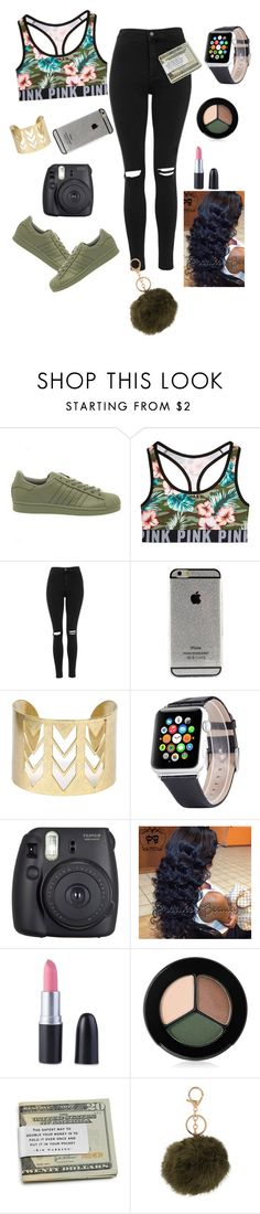 #Mimi by mimiford2000 on Polyvore featuring Topshop, Victoria's Secret, adidas, Smashbox, Fuji, women's clothing, women's fashion, women, female and woman