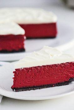 Red Velvet Cheesecake recipe from red velvet redvelvet cheesecake recipe RecipeGirl Best Red Velvet Cake, Red Velvet Cheesecake Brownies, Chocolate Cheesecake, Pumpkin Cheesecake, Raspberry Cheesecake, Oreo Cheesecake, Cheese Cake Factory, The Cheesecake Factory, Salty Cake