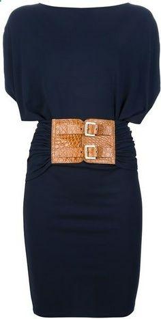 Michael Kors Buckle Fastening Dress - Lyst