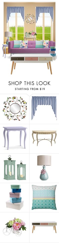 """""""Pastel Decor"""" by aharcaki ❤ liked on Polyvore featuring interior, interiors, interior design, home, home decor, interior decorating, Southern Enterprises, United Curtain, Redford House and Serax"""