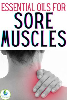 Sore Neck Muscles, Remedy For Sore Muscles, Muscles Of The Neck, Essential Oils Sore Muscles, Essential Oils For Massage, Essential Oil Blends, Essential Oil Recipies, Pain Relief Spray, Muscle Inflammation