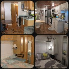 Great ideas for updating your trailer! Before and After!