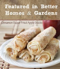 Cinnamon Sugar Fried Apple Sticks Dessert recipe Featured in Better Homes & Gardens
