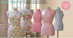 Cath kidson covered mannequins, lovely! I want to make one!!!!