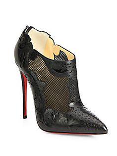 Christian Louboutin - Mandolina Mesh & Leather Ankle Boots   FW 2014   cynthia reccord