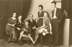 Andre, ma, Diane, Germain, Gilberte, Elfride, pa 'Oostende' Bie de bolken