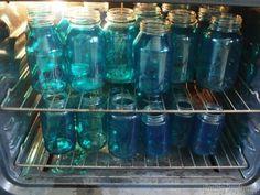 Tint your own Mason Jars to make a MASON JAR MOSAIC BACKSPLASH! {Reality Daydream}