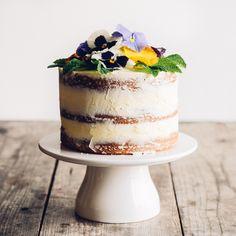 Triple Lemon Cake with Edible Flowers