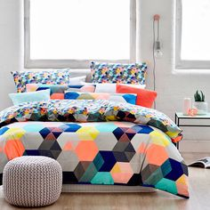Home Republic Hexx - Bedroom Quilt Covers & Coverlets - Adairs online