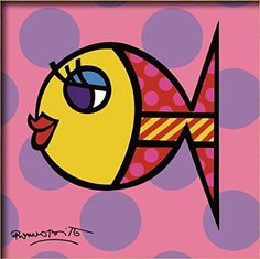 Diy oil painting, paint by number kits for kids - Beauty fish 8X 8.