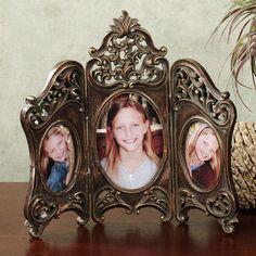 Samantha Hinged Triple Tabletop Photo Frame