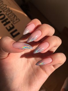 🌈 by 𝖋𝖔𝖗 𝖞𝖔𝖚𝖗 𝖓𝖆𝖎𝖑𝖘💅🏻 Perfect Nails, Gorgeous Nails, Pretty Nails, Get Nails, Hair And Nails, Nails First, Magic Nails, Fire Nails, Minimalist Nails