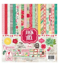 Echo Park - Jack and Jill (Girl) Scrapbook Collection Kit. Twelve high-quality double-sided papers, one Elements and Alphabet Stickers Sheet. 12x12 Scrapbook, Scrapbook Supplies, Scrapbooking Kit, Paper Craft Supplies, Paper Crafts, Alphabet Stickers, Printable Stickers, Echo Park Paper, Paper Companies