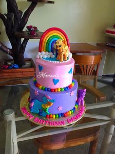 The Cake Witch Rainbow My Little Pony Rainbow Cakes In 2019