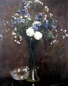 Flower Piece, Oil on canvas, 66 x 51 cm, Arthur Streeton
