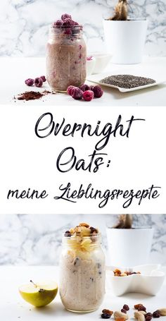 Make overnight oats yourself: 4 delicious recipes - Mama Kreat .-Overnight Oats selber machen: 4 leckere Rezepte — Mama Kreativ Make overnight oats yourself: 4 delicious recipes – Mama Kreativ - Breakfast Smoothies, Healthy Smoothies, Healthy Snacks, Healthy Recipes, Delicious Recipes, Breakfast Healthy, Eat Healthy, Healthy Life, Vegetarian Recipes