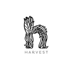 This harvest logo is interesting because it has only one letter with imagery but also has the name underneath which helps the word harvest be more memorable