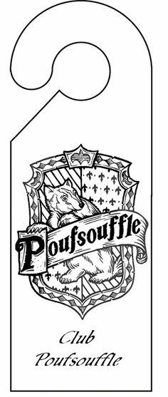 Pancarte De Porte Poufsouffle Decoupage A Imprimer Harry Potter ColorsHarry