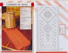 Camino de mesa al crochet con esquema