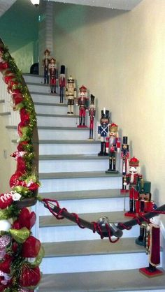 Cute way to decorate your home with nutcrackers this holiday season! http://www.simplysteinbach.com/
