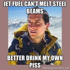 Výsledek obrázku pro jet fuel can't melt steel beams joke