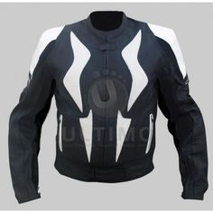 CE Armor Motorcycle Black / White Stylish Genuine Leather Jacket  Are you in search of a nice motorcycle jacket? You will love to have CE Armor Motorcycle Black / White Stylish Genuine Leather Jacket in your wardrobe. It has a unique design and it is a combination of black and white. At the front,