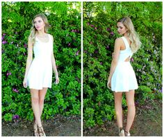 Every girl needs a little white dress in her wardrobe!